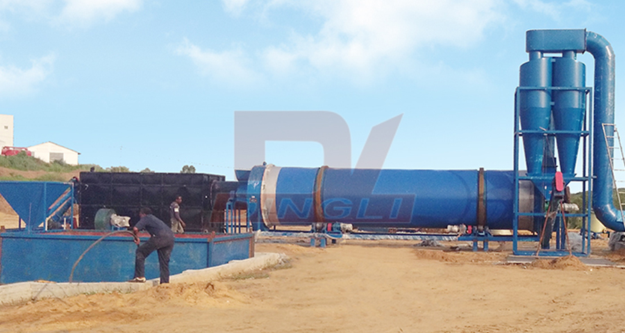 Congo chicken manure drying production line