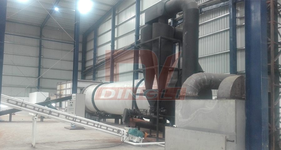 Coconut coir drying production line