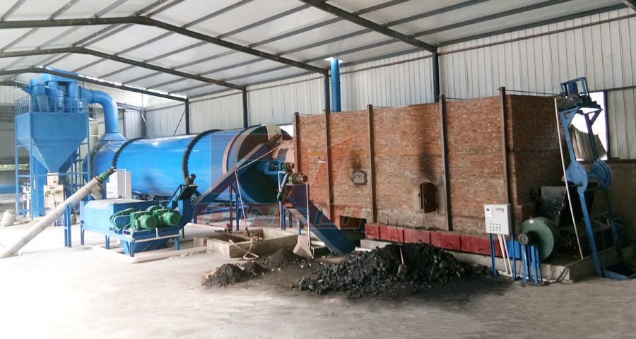Siyang brewer's grain drying machine site